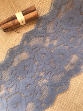Slate Grey Wide Scalloped Lace 14.5 cm/5.75""