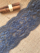 "Grey Soft Stretch Scalloped Lace 3.5""/9.5 cm"