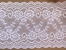 Premium White Stretch French Lace   15.5 cm/6""