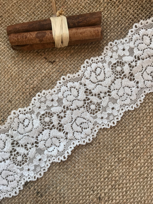 Premium Cream Soft Stretch  French Lace 2.5