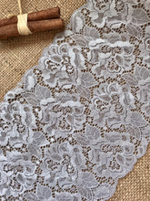 Silver Grey Soft Stretch Scalloped Lace 17cm/6.75""
