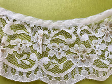 Quality Nottingham Frilled/Gathered Lace. Ivory/Gold 6.5 cm/2.5""
