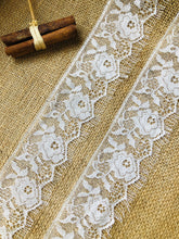 "Pale Ivory Delicate Gossamer Lace with Eyelash Edges  2.5""/6 cm"