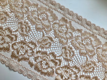 Warm Coffee Skin-tone Stretch French Lace   20 cm/8""