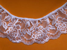 Quality  White Nottingham Frilled/Gathered Lace 8.25  cm/3.25""