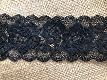 "White or Black Soft Stretch Nottingham Scalloped Lace 2.5""/7 cm"