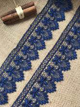 Navy Blue Flower Lace Guipure 2""