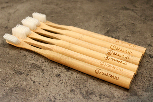 Eco-friendly biodegradable bamboo toothbrushes