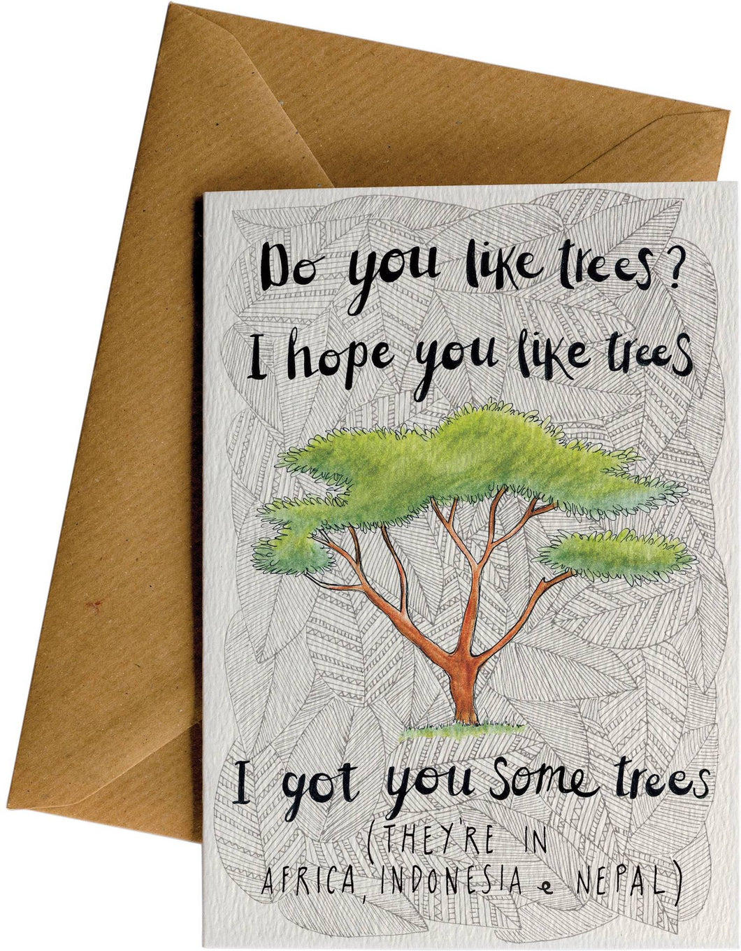 Do you like trees gift card bamwoo bamboo front of bamwoos do you like trees gift card negle