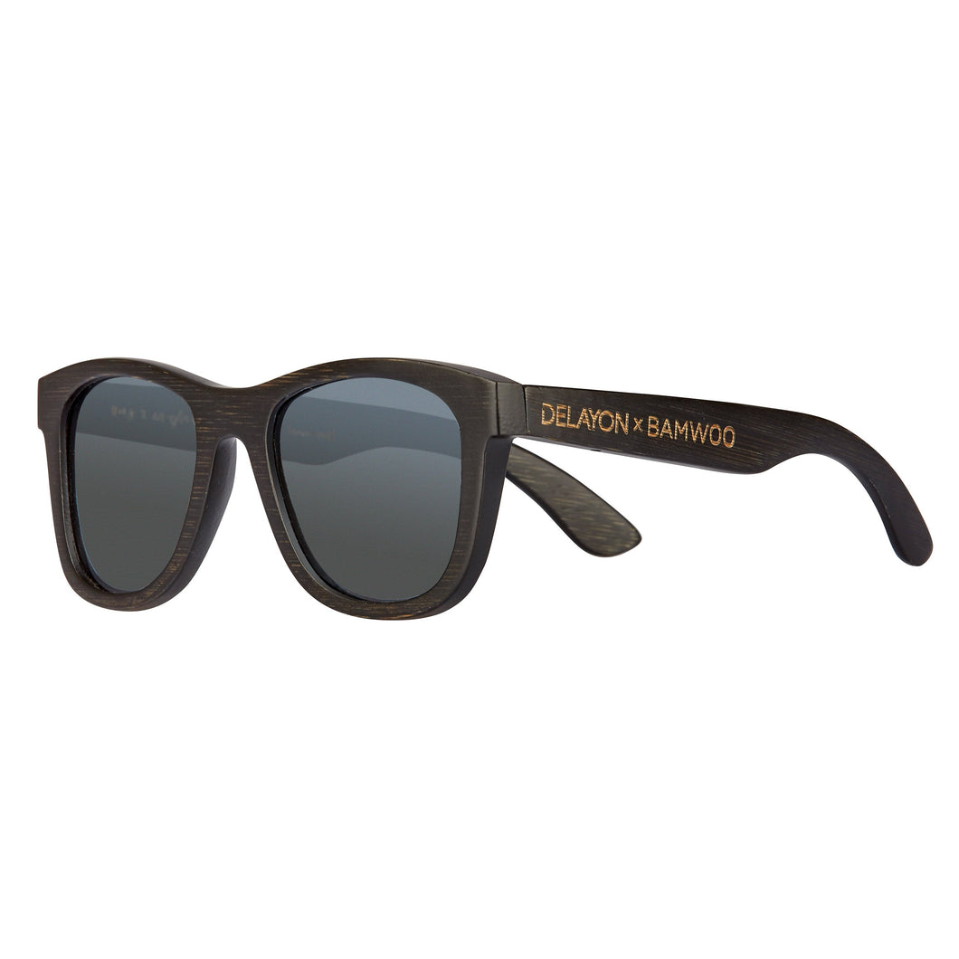 Eco Bamboo Jungle Sunglasses from BAMWOO x DELAYON in dark bamboo colour