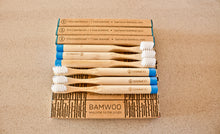 Year's Supply of BAMWOO's children's bamboo toothbrush in ocean blue