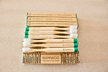 Year's Supply of BAMWOO's children's bamboo toothbrush in forest green