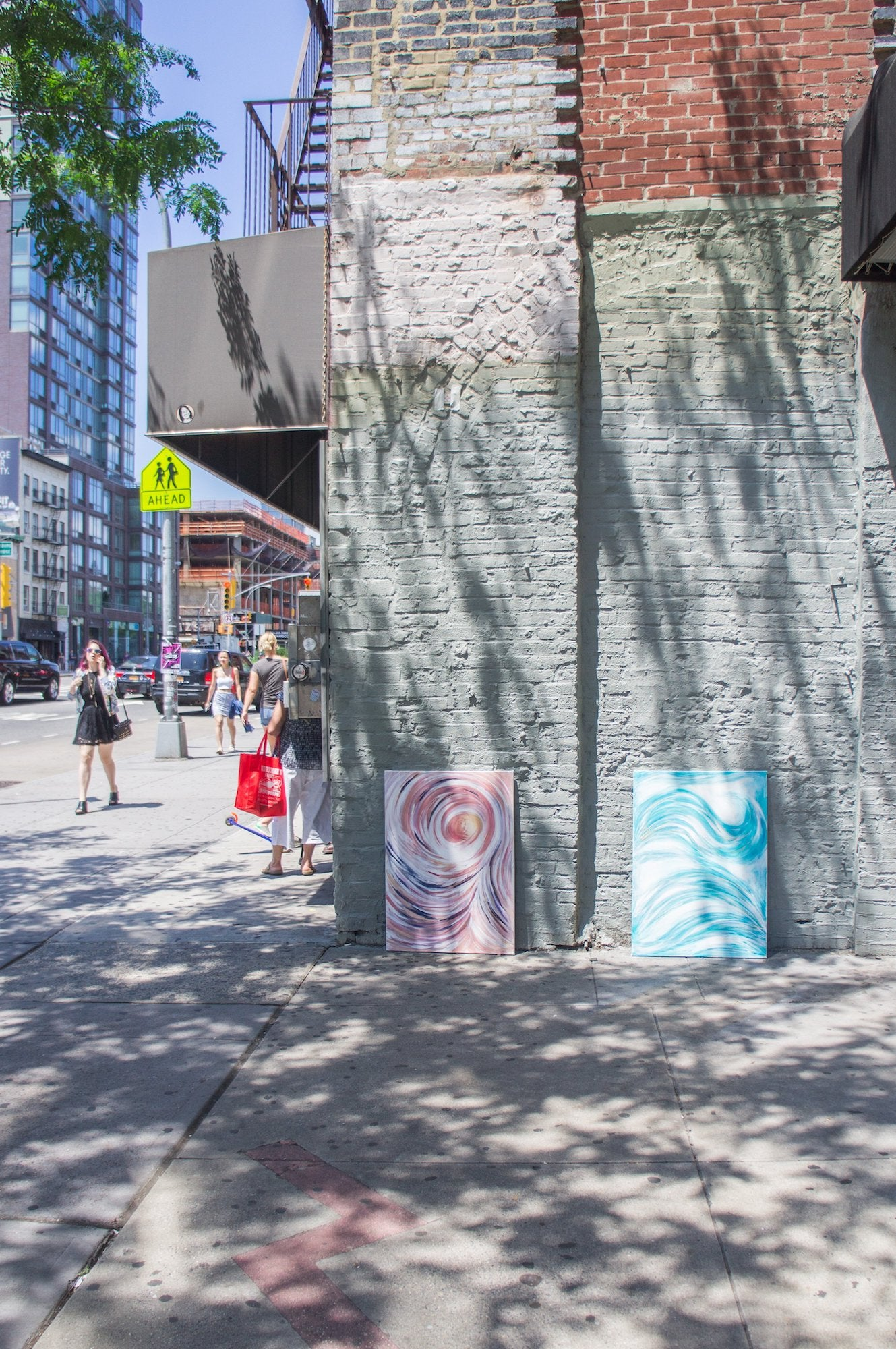 paintings by a concrete building nyc