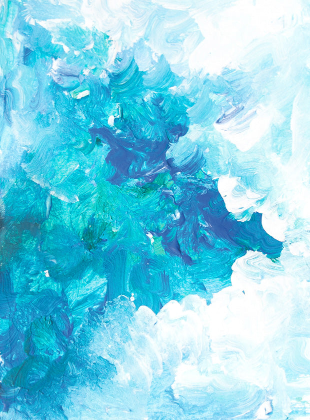 abstract ocean painting postcard