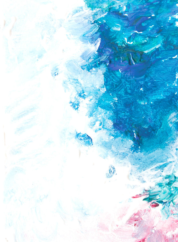 abstract ocean painting