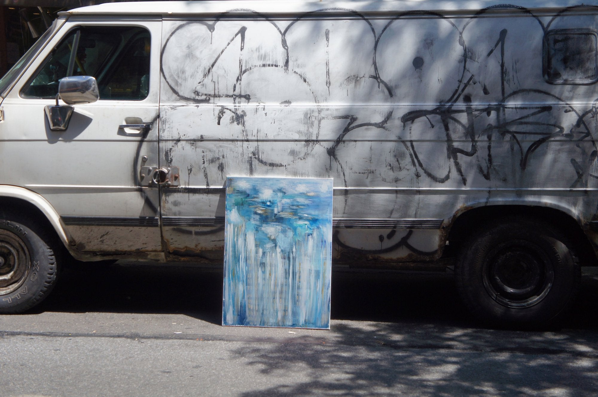 painting by a van