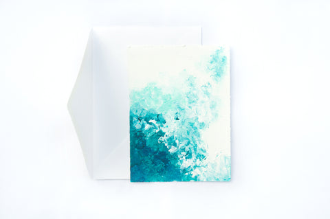 Sea hand painted card