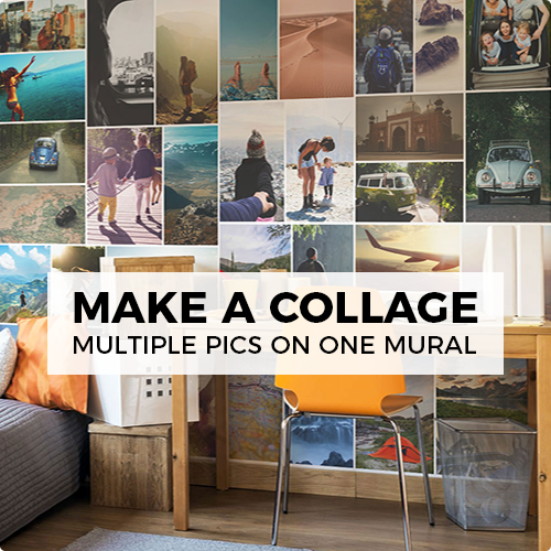 make a collage mural by uploading multiple pictures