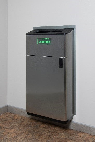 "ecotrash® PTC®, paper towel compactor – 8"" in-wall model"