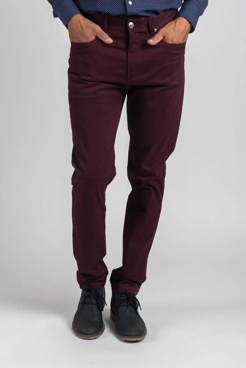 PANTALON CLINT BURGUNDY