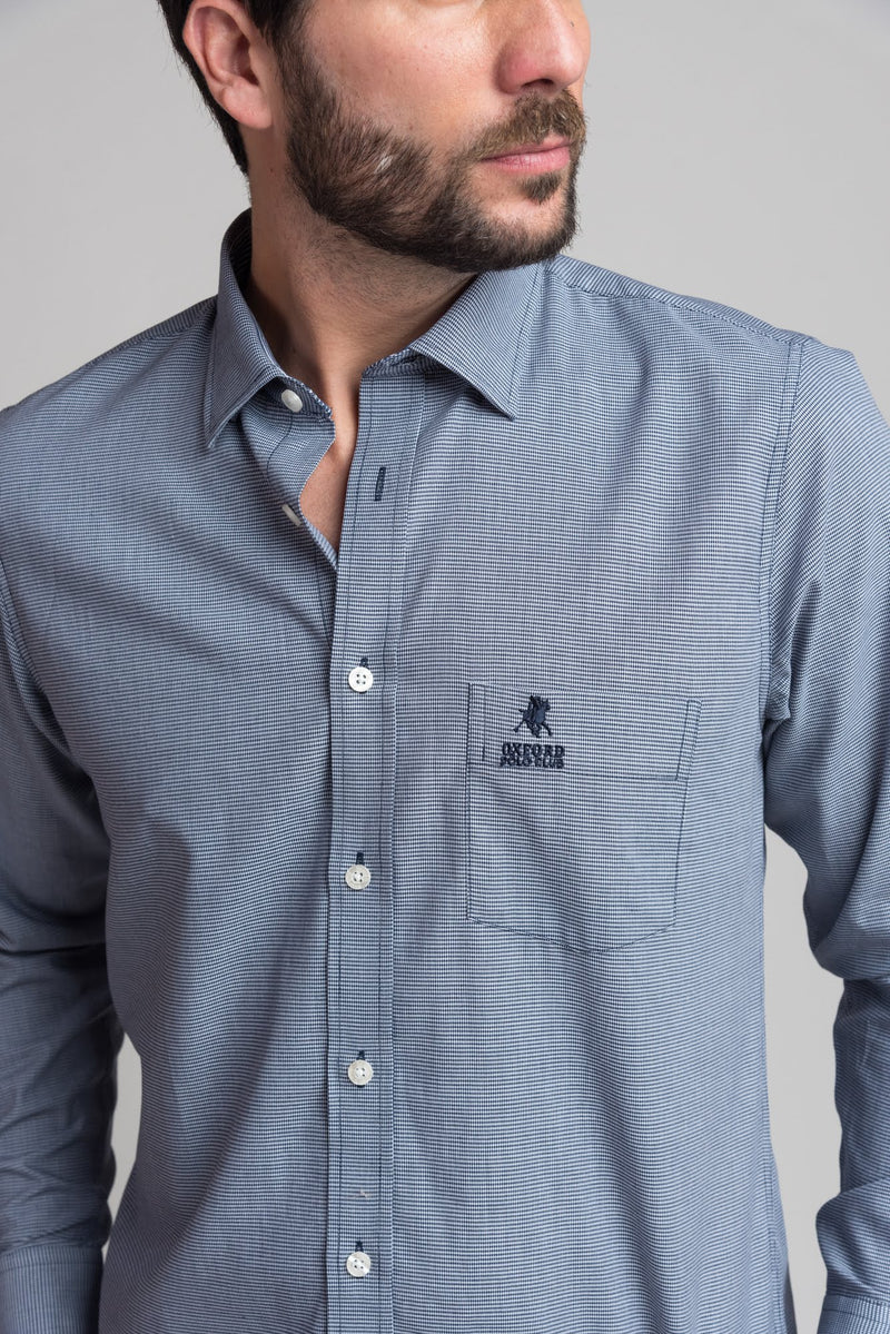 Camisa Manga Larga Golden Navy