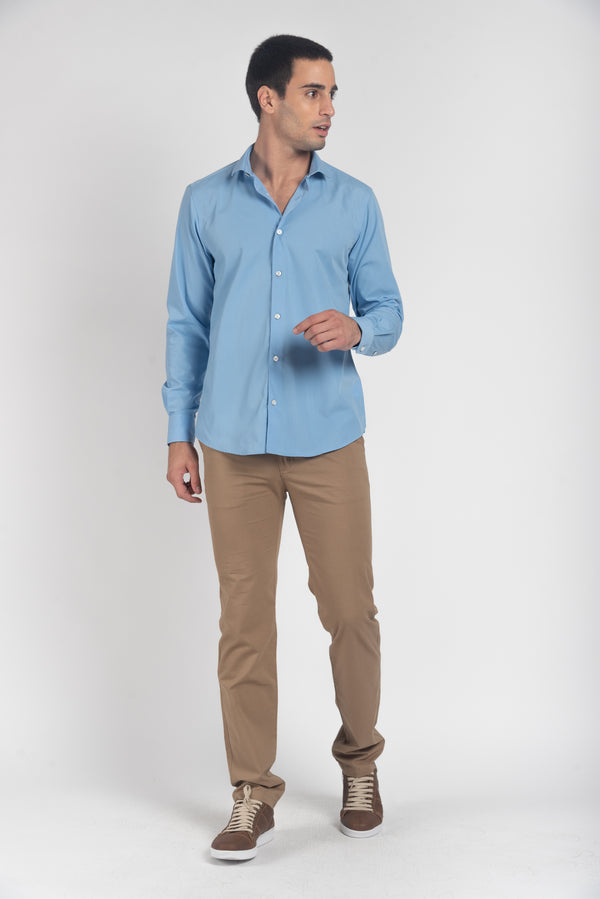 CAMISA MANGA LARGA SORRENTO LT. BLUE