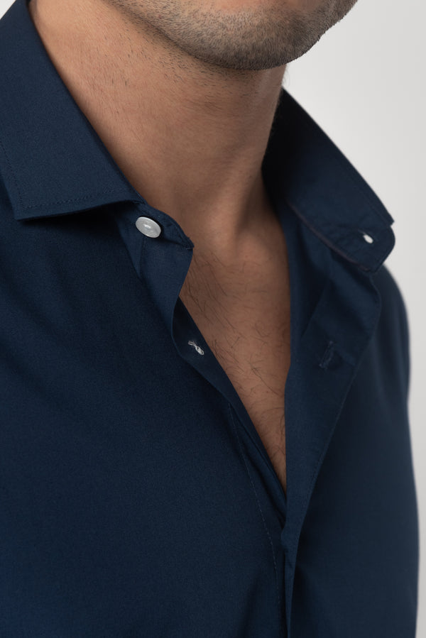 CAMISA MANGA LARGA SORRENTO NAVY