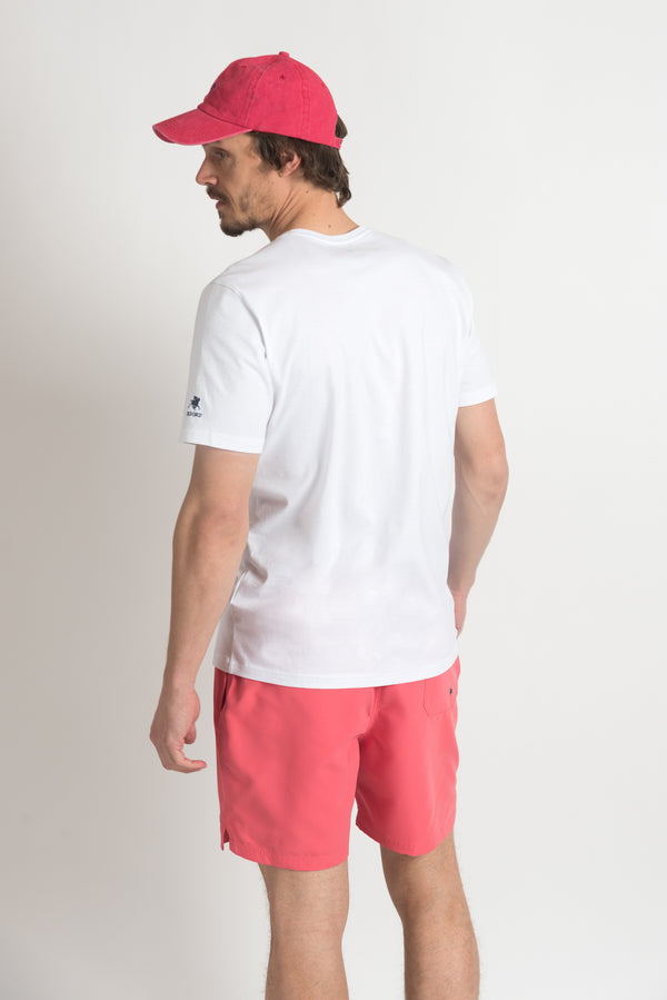 REMERA MANGA CORTA SUNSET BLANCO