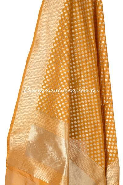 Orange Art silk Banarasi Dupatta (12003180060079OY034) (HSN Code -6214)