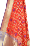 Red Banarasi Dupatta with patan patola design (2) Close up