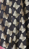 Black Art Silk Banarasi Dupatta with butterfly motifs SSRVDAS531 (2) Close up