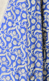 Blue Katan Silk Banarasi Dupatta with stylized jaal and Zari work PCRVD05K06 (2) Close up
