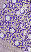 Dark Blue Katan Silk Banarasi Dupatta with stylized jaal and zari work PCRVD01B09 (2) Close up