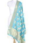 Italian Sky Blue Banarasi dupatta with Dancing lady motifs (1) main