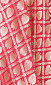 Red Art Silk Banarasi Dupatta with leaf motifs and jaal SSRVDAS504 (2) Close up