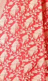 Red Katan Silk Banarasi dupatta with Baluchari motifs (PCRVD04B10) (2) Close up
