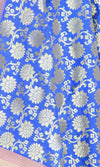 Royal Blue Art Silk Banarasi Dupatta with sunflower motifs (PCRVDAS08) (2) Close up