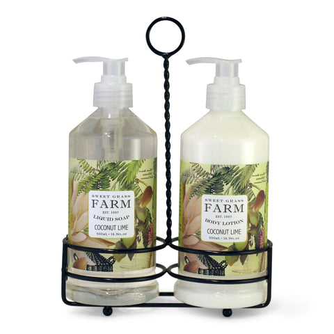 Body Lotion & Liquid Soap Caddy Set