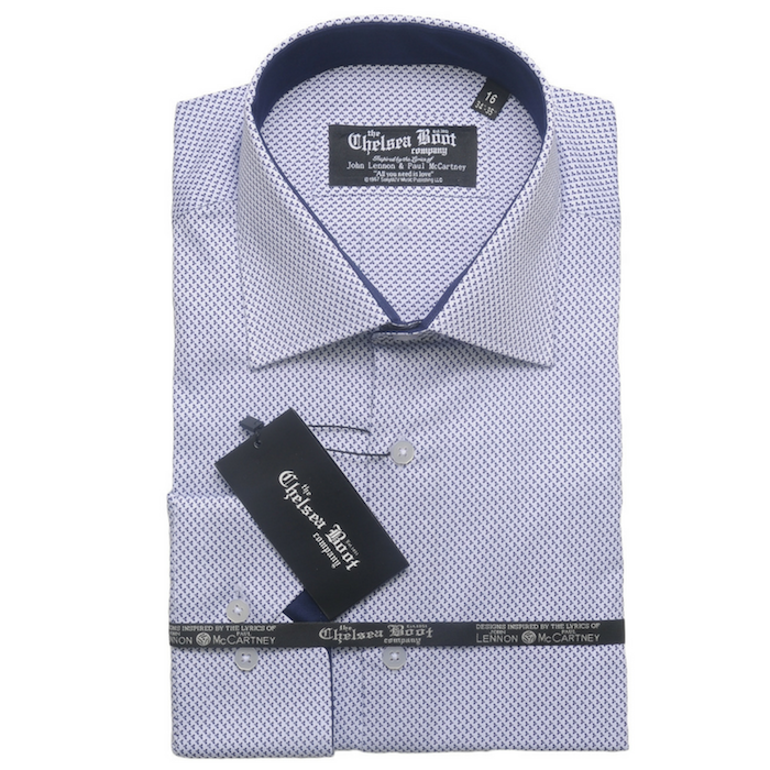 Regular Collar - White Pattern Shirt