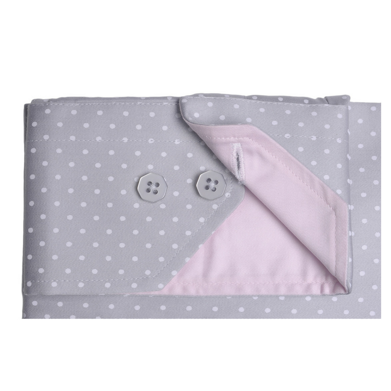Regular Collar Grey Polkadot Shirt