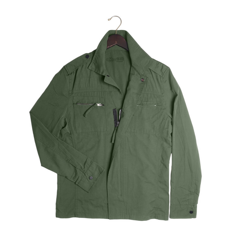 Lightweight Shirt Jacket - Olive