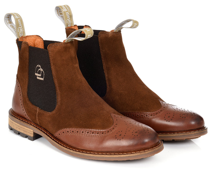 The Two Tone Brogue Chelsea Boot Brown