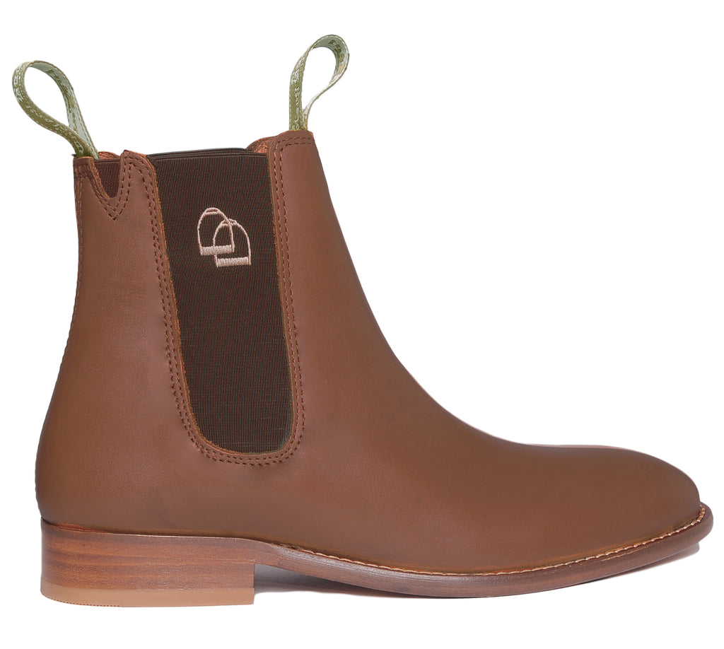 Women's Classic Chelsea Boots Leather Brown
