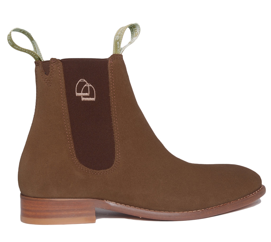 Women's Classic Chelsea Boots Suede Brown
