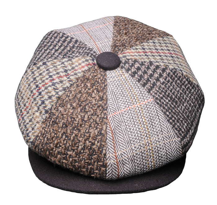 The Chelsea Pieced Tweed Cap