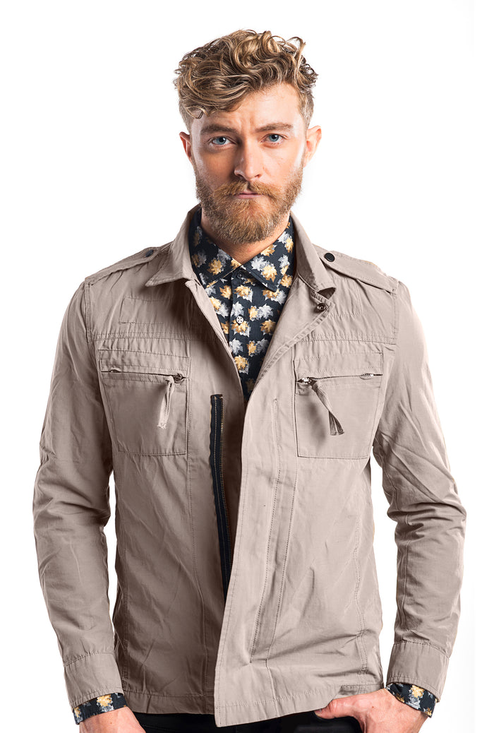 Lightweight Shirt Jacket - Camel