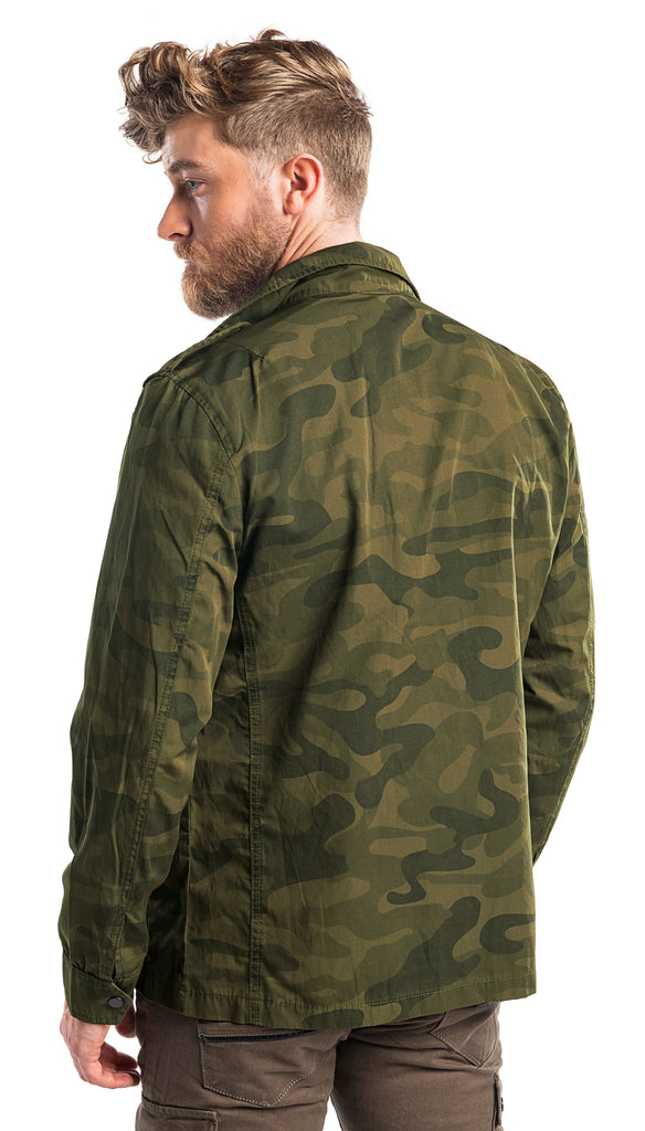 Lightweight Shirt Jacket - Camo