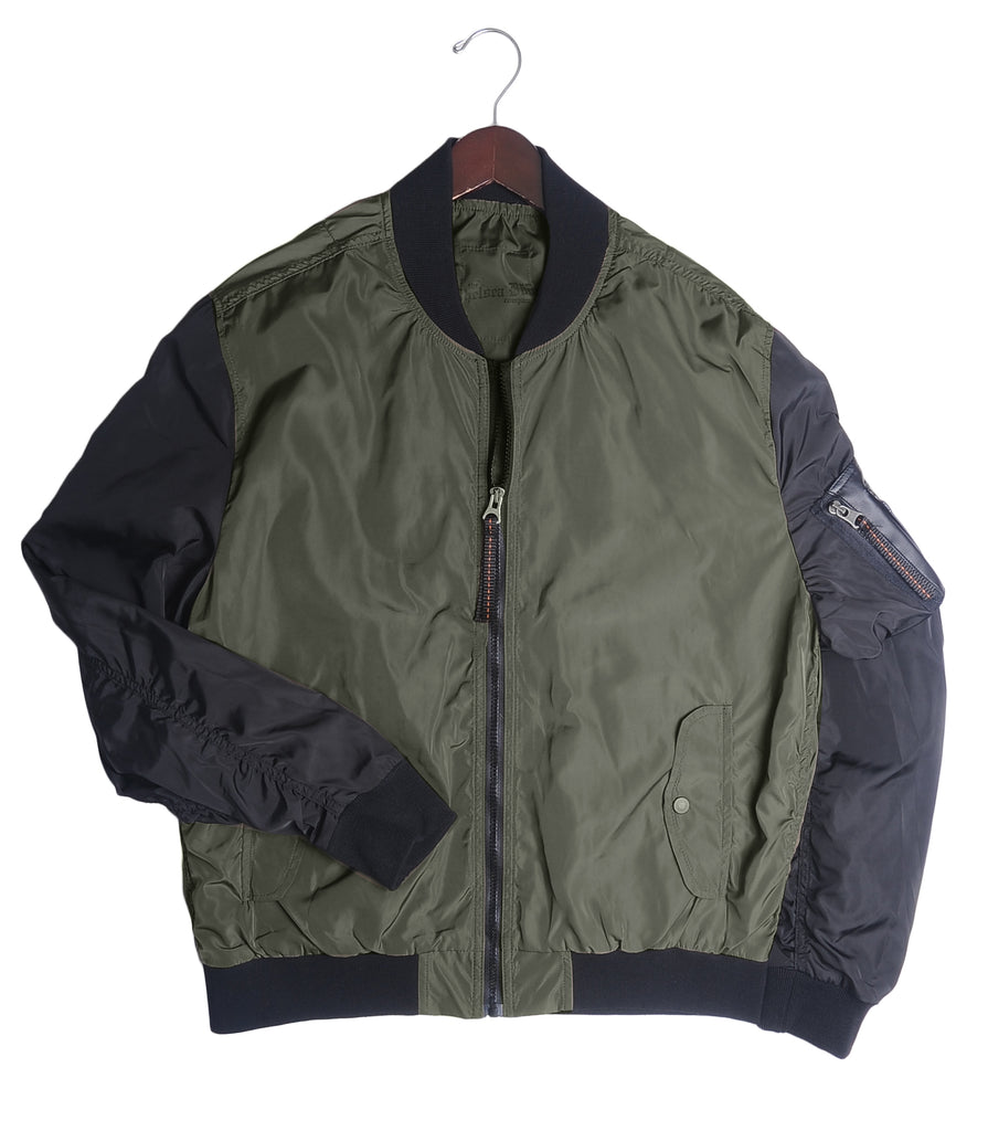 Bomber Jacket - Olive / Black