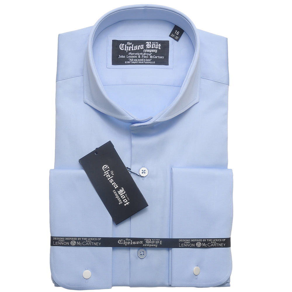 Cutaway Collar Light Blue Shirt