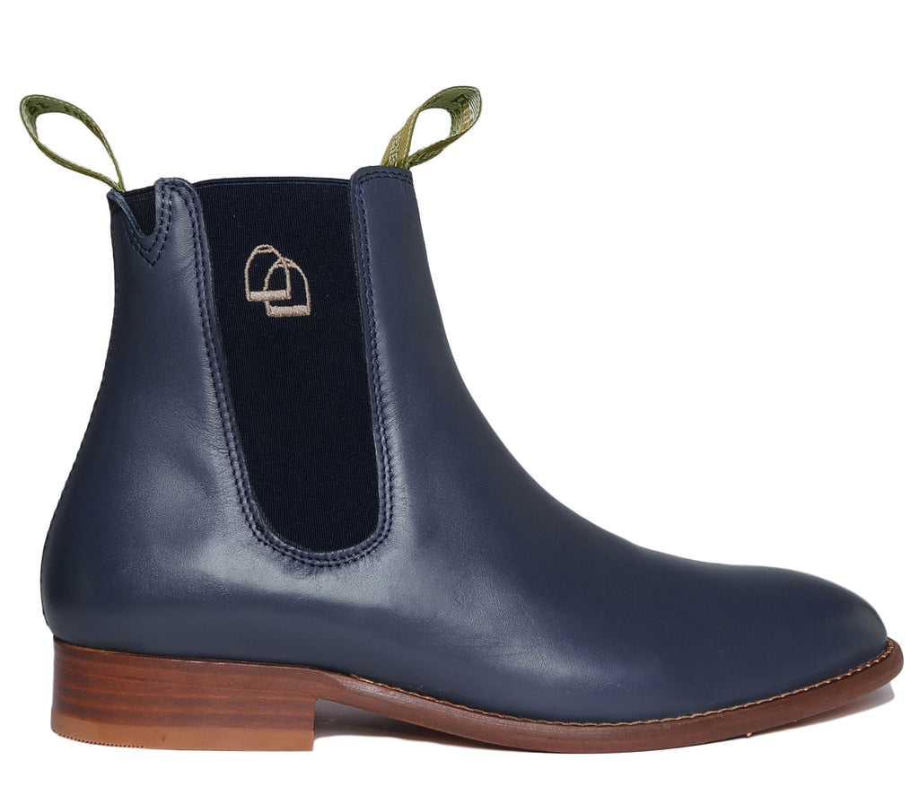 Women's Classic Chelsea Boots Leather Navy